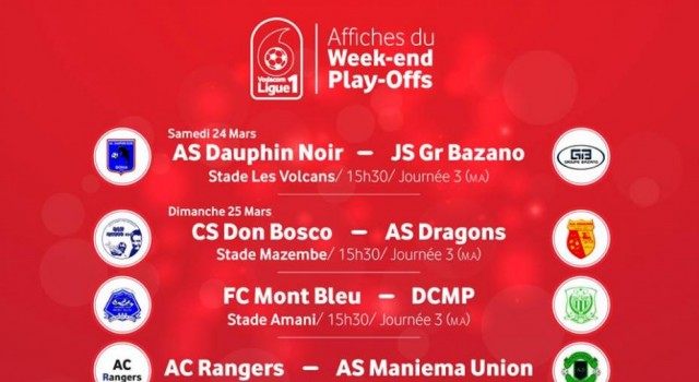 Au Programme ce Weekend, 15:30 AS Dauphin noir vs JS Groupe Bazano